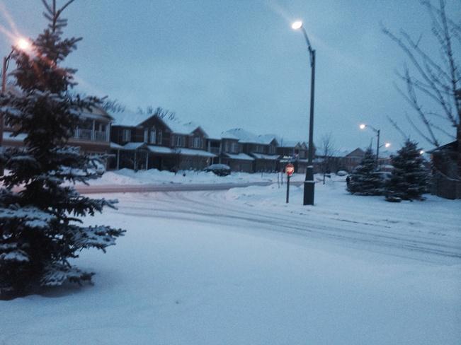 snow Mississauga, Ontario Canada