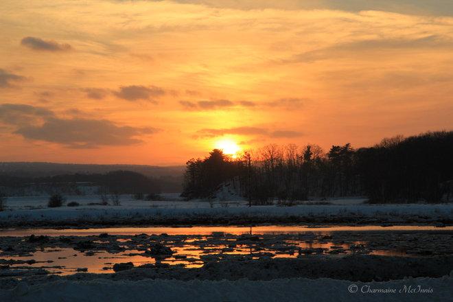 Annapolis Valley sunset Port Williams, Nova Scotia Canada