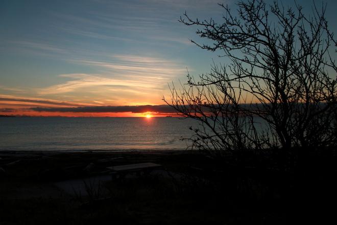Sunrise at the Esquimalt Lagoon Colwood, British Columbia Canada