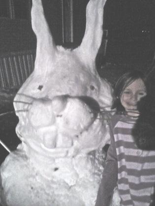 Rabbit snowman