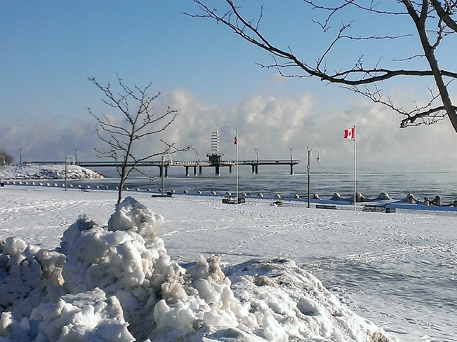 Ice Fog Burlington, Ontario Canada