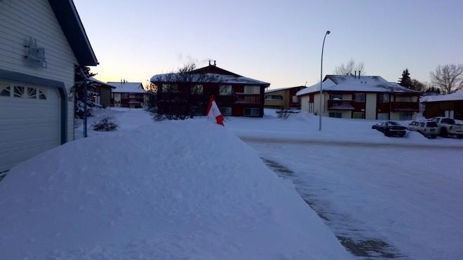snow mountain Innisfail, Alberta Canada