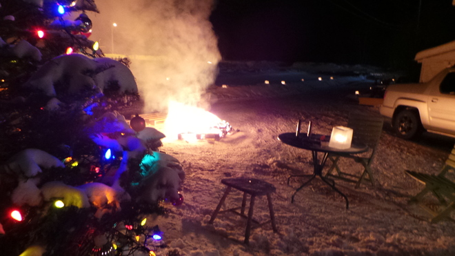 new years eve 2013 Red Lake, Ontario Canada