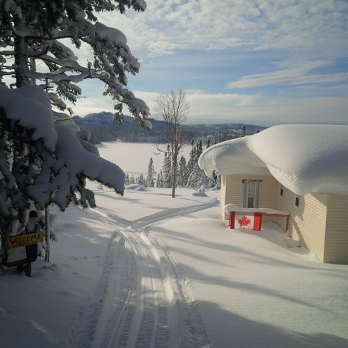 Beautiful winters day at the cabin.. Corner Brook, Newfoundland and Labrador Canada