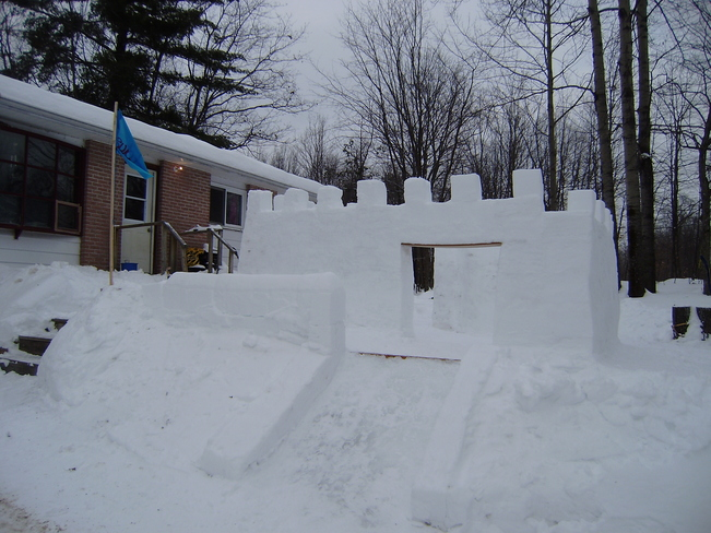 snow castle Golden Lake 39, Ontario Canada