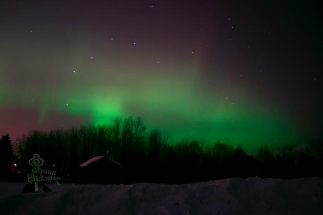 Aurora Borealis over The Bay Thunder Bay, Ontario Canada