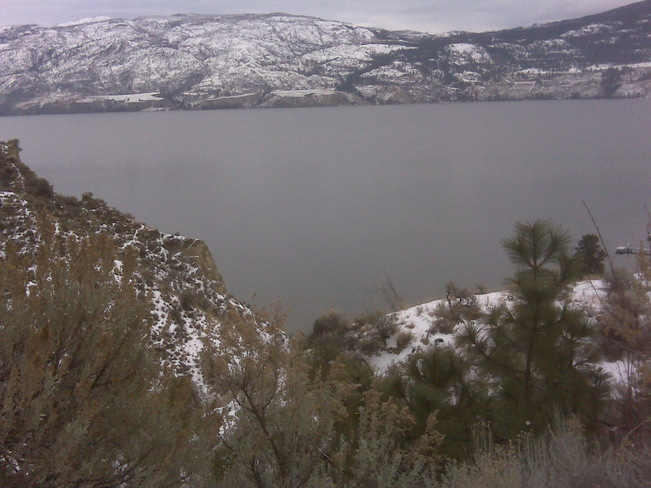 Warming but not clear skies Penticton, British Columbia Canada