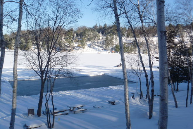 Our Outdoor Rink Lively, Ontario Canada