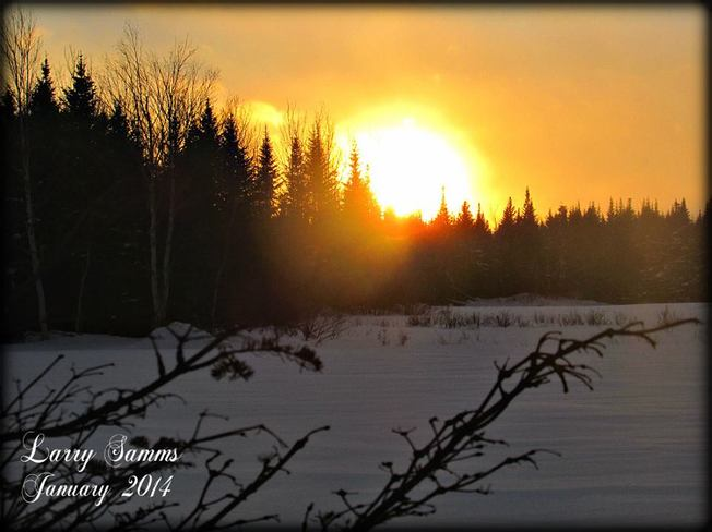 """January Sunset"" Springdale, Newfoundland and Labrador Canada"
