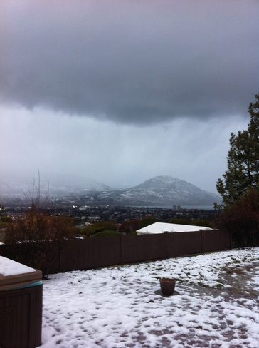rain washing away the snow Penticton, British Columbia Canada