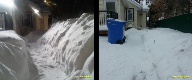 Snow Comparison Regina, Saskatchewan Canada