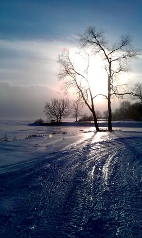 Icy Shoreline Trenton, Ontario Canada