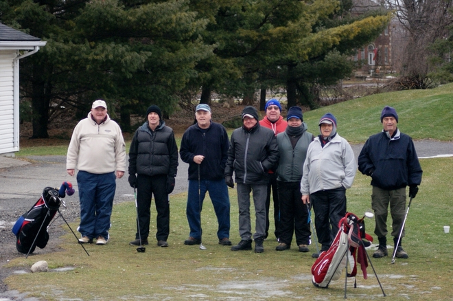Golfing in January 2014 St. Davids, Ontario Canada