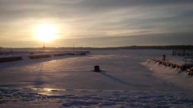 Barrie,s frozen bay Barrie, Ontario Canada