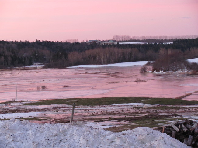Morning over Flooded Marshes Amherst, Nova Scotia Canada