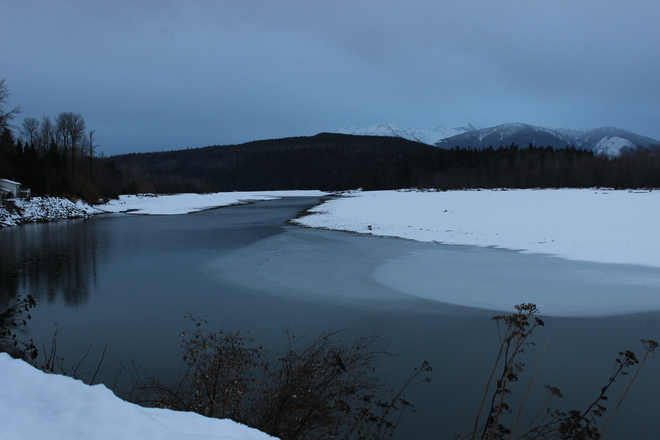Skeena River and Mountains Terrace, British Columbia Canada