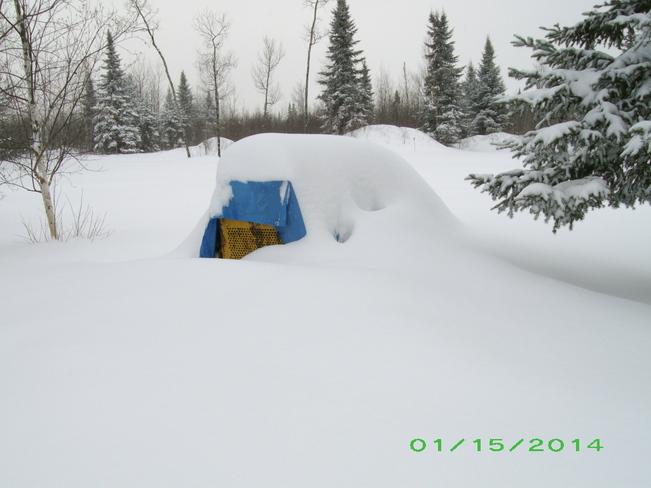 Snow Dozer Kenabeek, Ontario Canada
