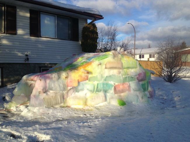Ice Igloo Fort McMurray, Alberta Canada