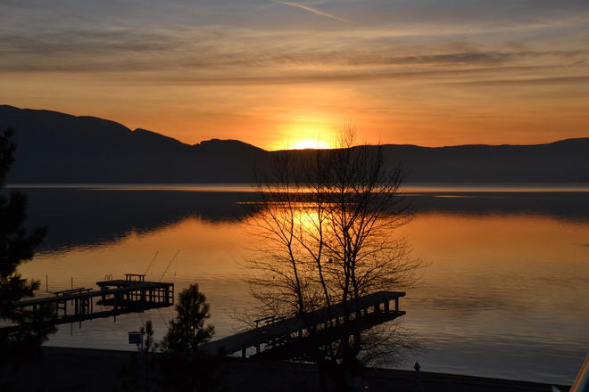 January Sunset South Kelowna, British Columbia Canada