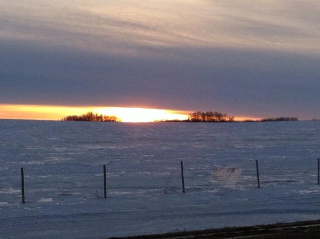 sunny day Wainwright, Alberta Canada