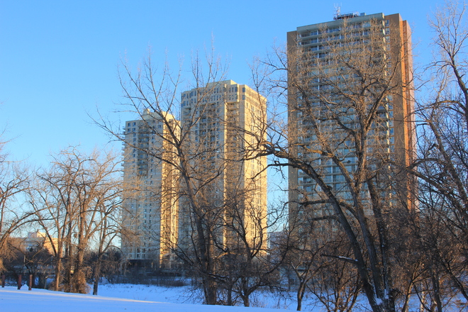 Blue Skies over the Assiniboine Winnipeg, Manitoba Canada