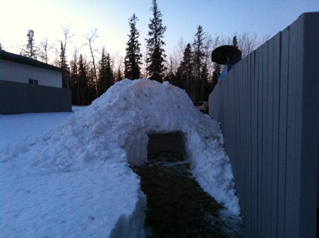 snow cave Fort McMurray, Alberta Canada