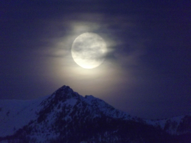 What a moon!!! Kimberley, British Columbia Canada