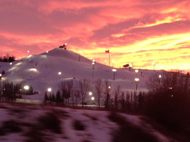 Sunset over COP Calgary, Alberta Canada