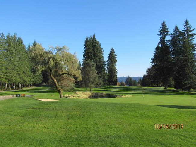 The 18th fairway & green North Vancouver, British Columbia Canada