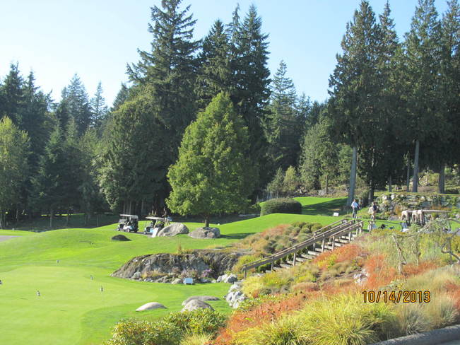 Just teed off North Vancouver, British Columbia Canada