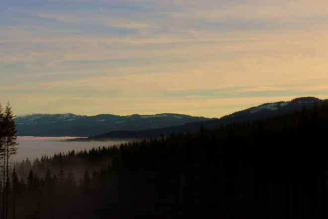 High above the clouds Courtenay, British Columbia Canada