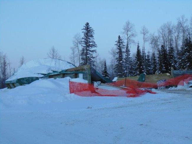 What heavy snow will do Englehart, Ontario Canada