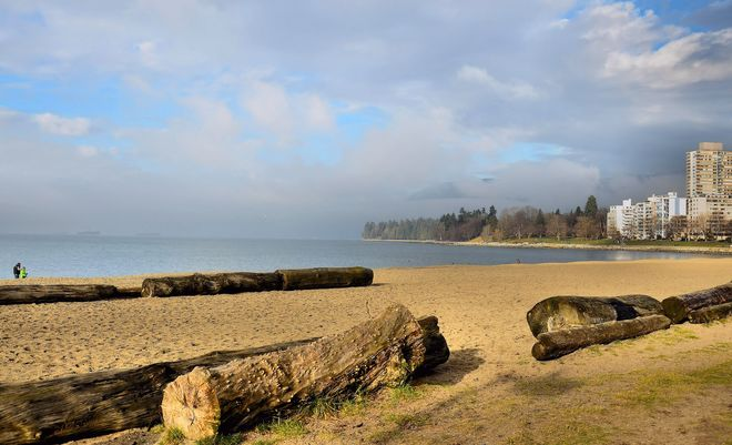 Mist at English Bay -2 Vancouver, British Columbia Canada