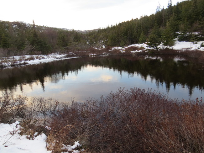 clouds in the pond Rock Harbour, Newfoundland and Labrador Canada