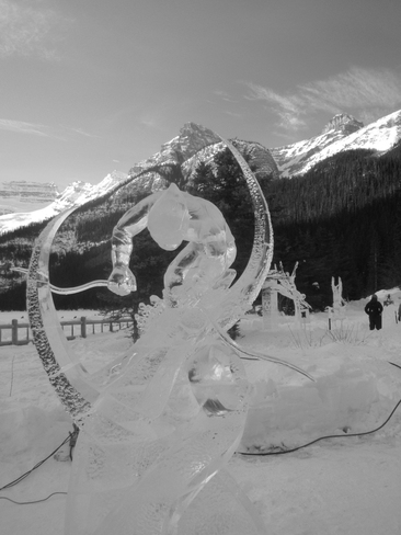 Ice sculptures in the mountains