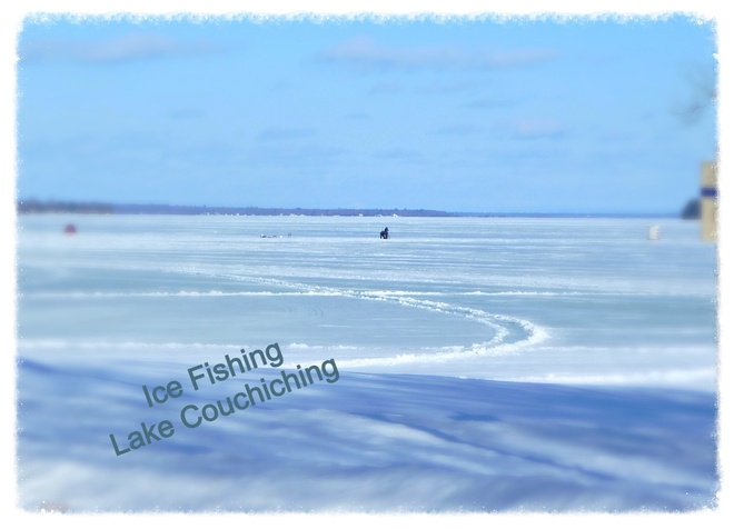 Ice fishing Orillia, Ontario Canada