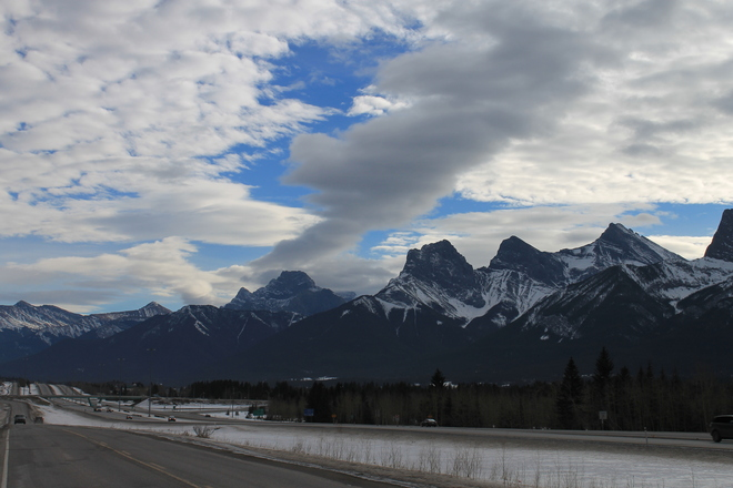 Weird Clouds over the Bow Valley Canmore, Alberta Canada