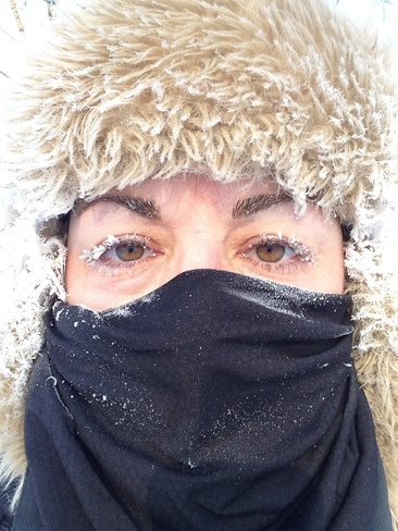 a brisk -39'C walk to work! North Bay, Ontario Canada