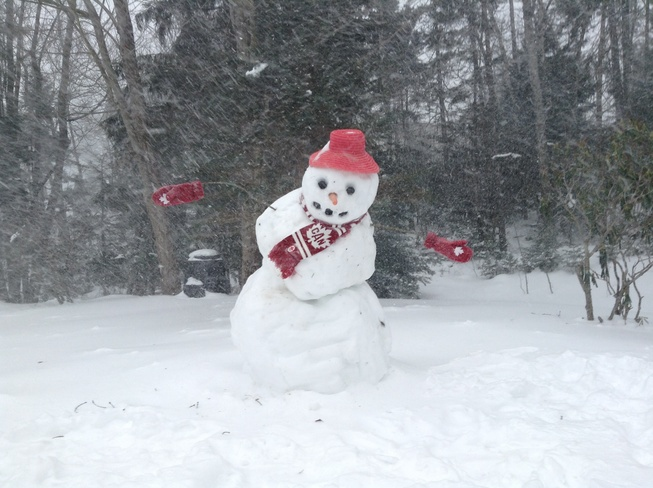 Even a cold day for Frosty Bedford, Nova Scotia Canada