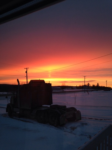 sunset Middle Hainesville, New Brunswick Canada