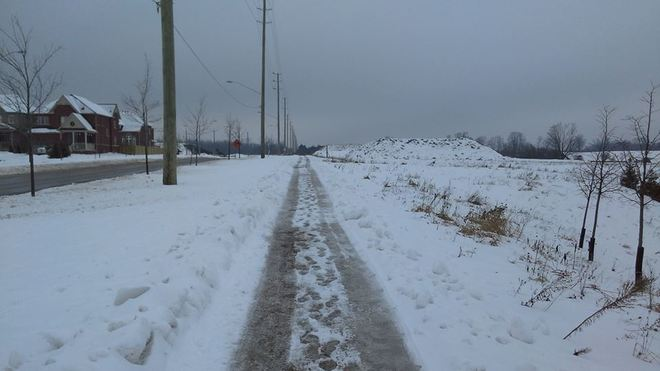 Walking Home From high School With All Of This Ice! Bowmanville, Ontario Canada