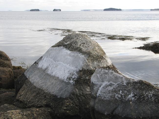 Solid Ice Chester, Nova Scotia Canada