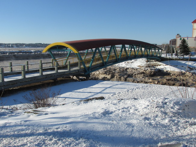 Footbridge in Dieppe this Early this am Moncton, New Brunswick Canada