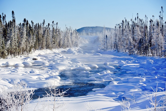 So cold...yet so beautiful! Sun shining in the Big Land! Labrador City, Newfoundland and Labrador Canada