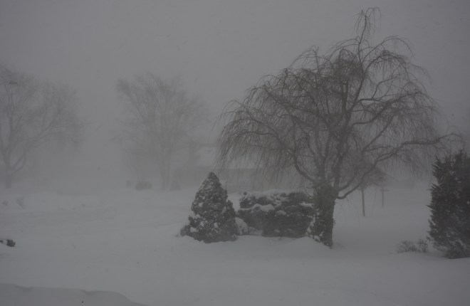 Snow Squalls and Blowing Snow in Kincardine Kincardine, Ontario Canada