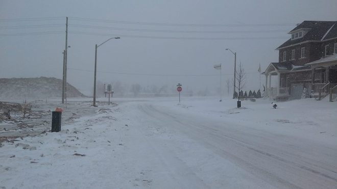 Lots Of Snow And Ice On The Roads! Stay Safe Please! Bowmanville, Ontario Canada