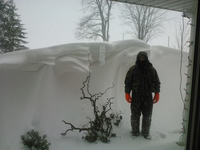 January 25 Snow Storm Huge Drifts Belgrave, Ontario Canada