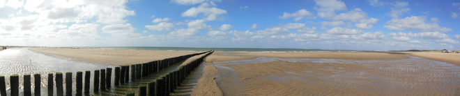 Panorama of a beach close to Breskens (The Netherlands)