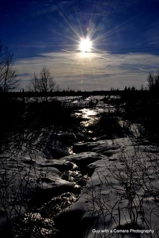 SUN OVER THE RIVER Grand Falls-Windsor, Newfoundland and Labrador Canada