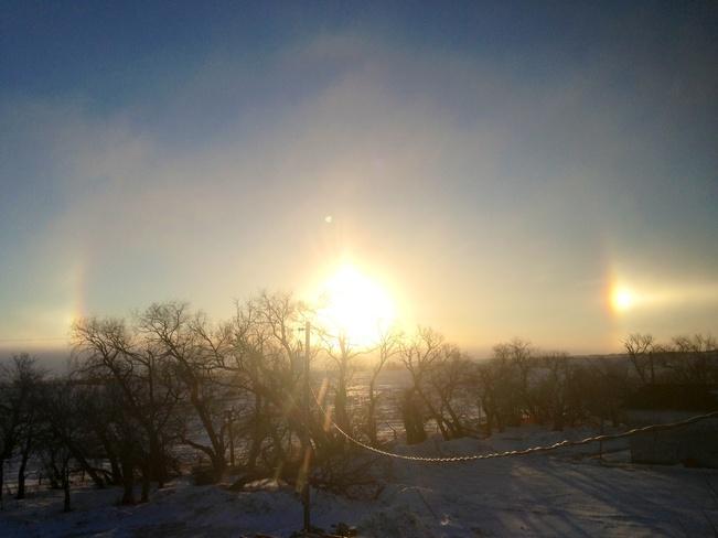 sundogs Young, Saskatchewan Canada